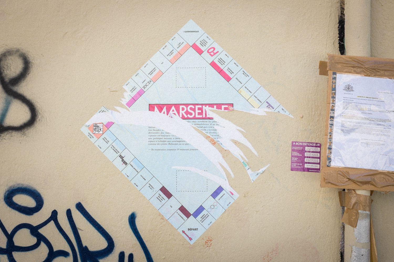 Monopoly Marseille auf Häuserwand