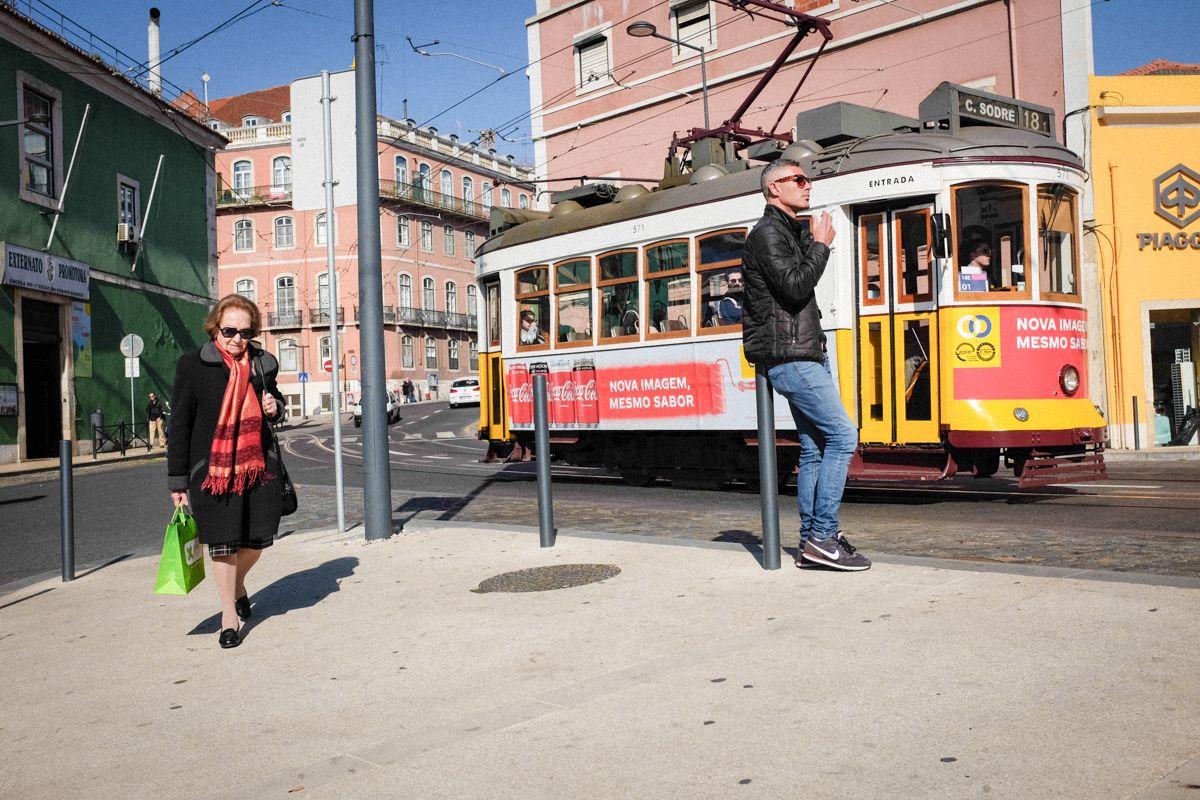 Lissabon historische Straßenbahn