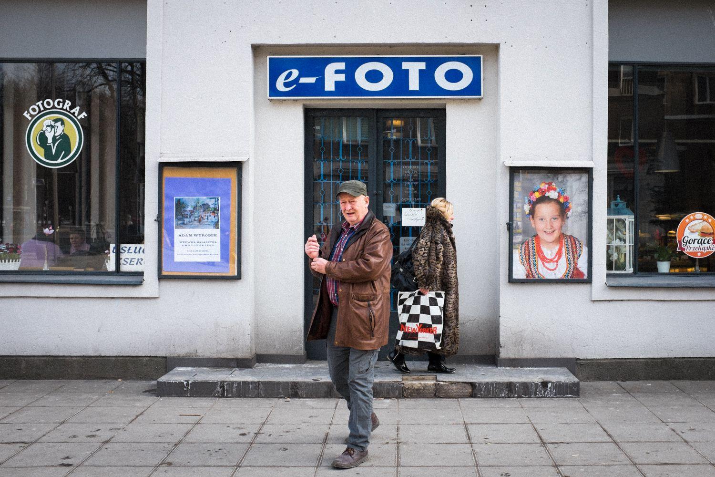 Fotogeschäft in der sozialistischen Vorstadt Nowa Huta von Krakau