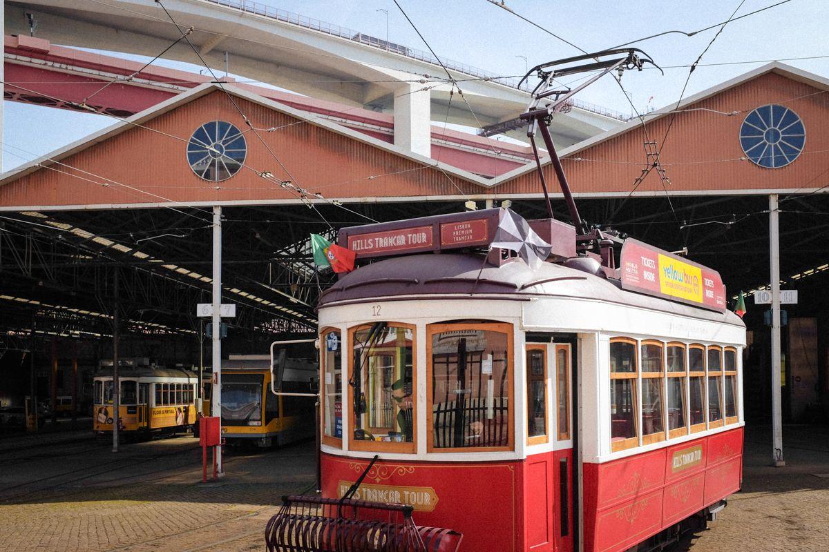 Tramdepot Alfama in Lissabon