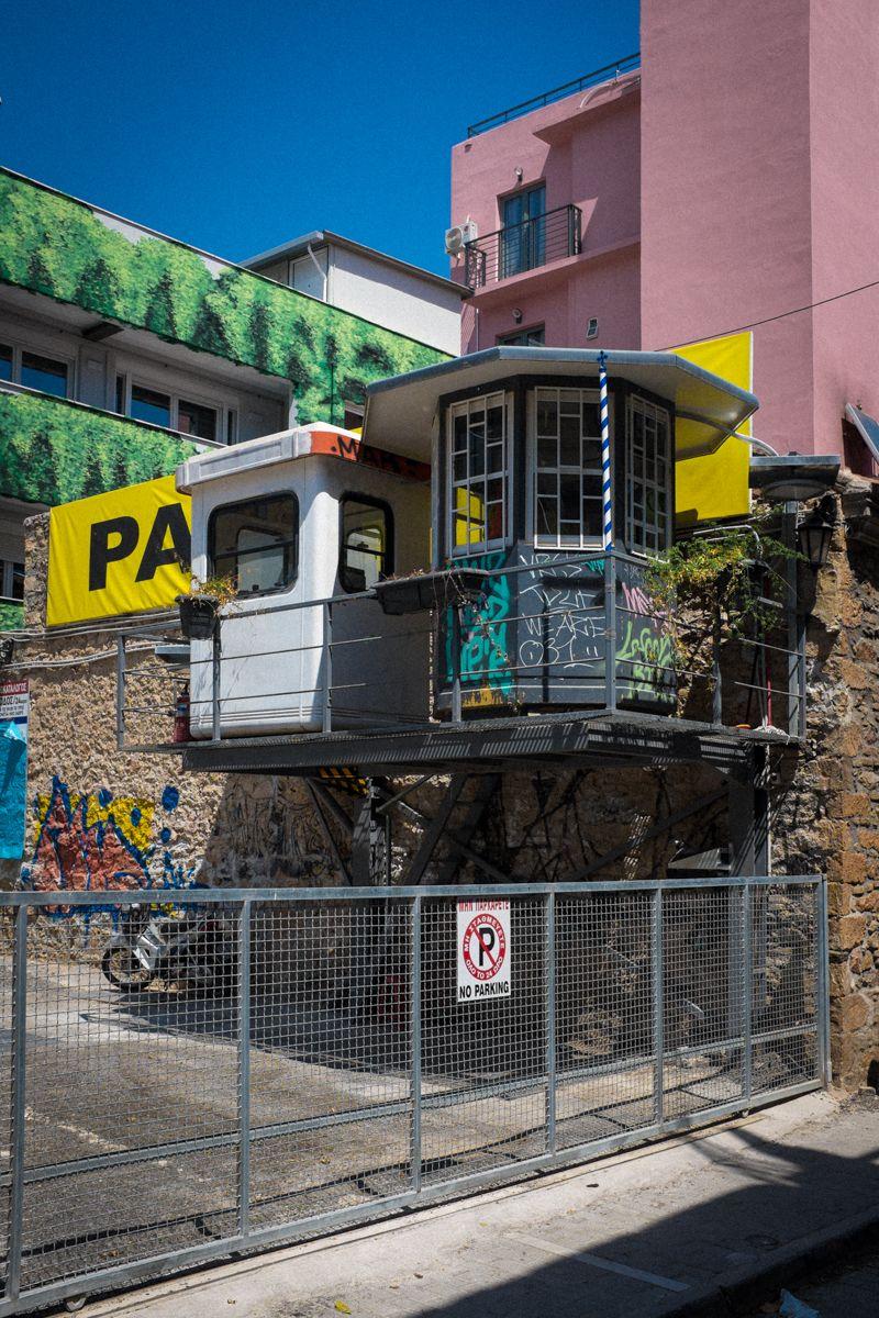 Parkplatz in Athen
