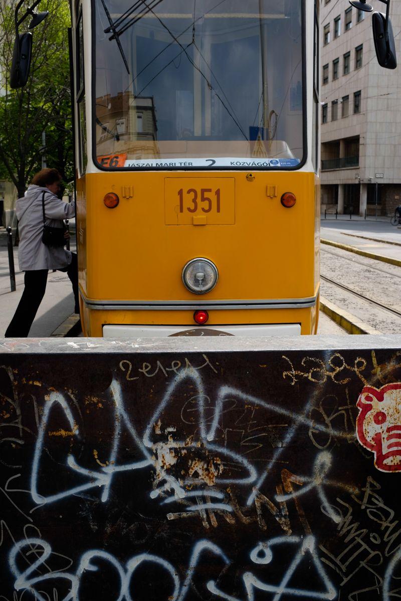 Endhaltestelle einer Budapester Tram