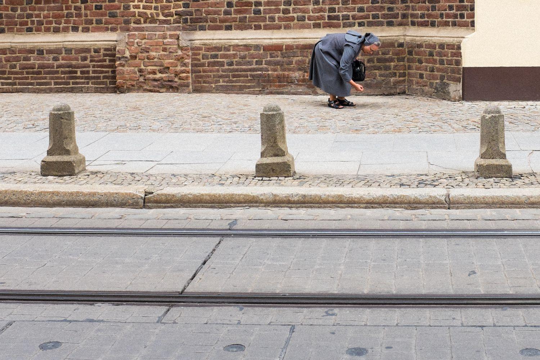 Nonne in der Altstadt von Breslau