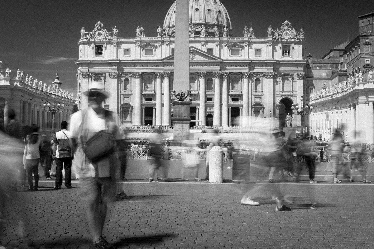 Langzeitbelichtungen Rom - Petersplatz