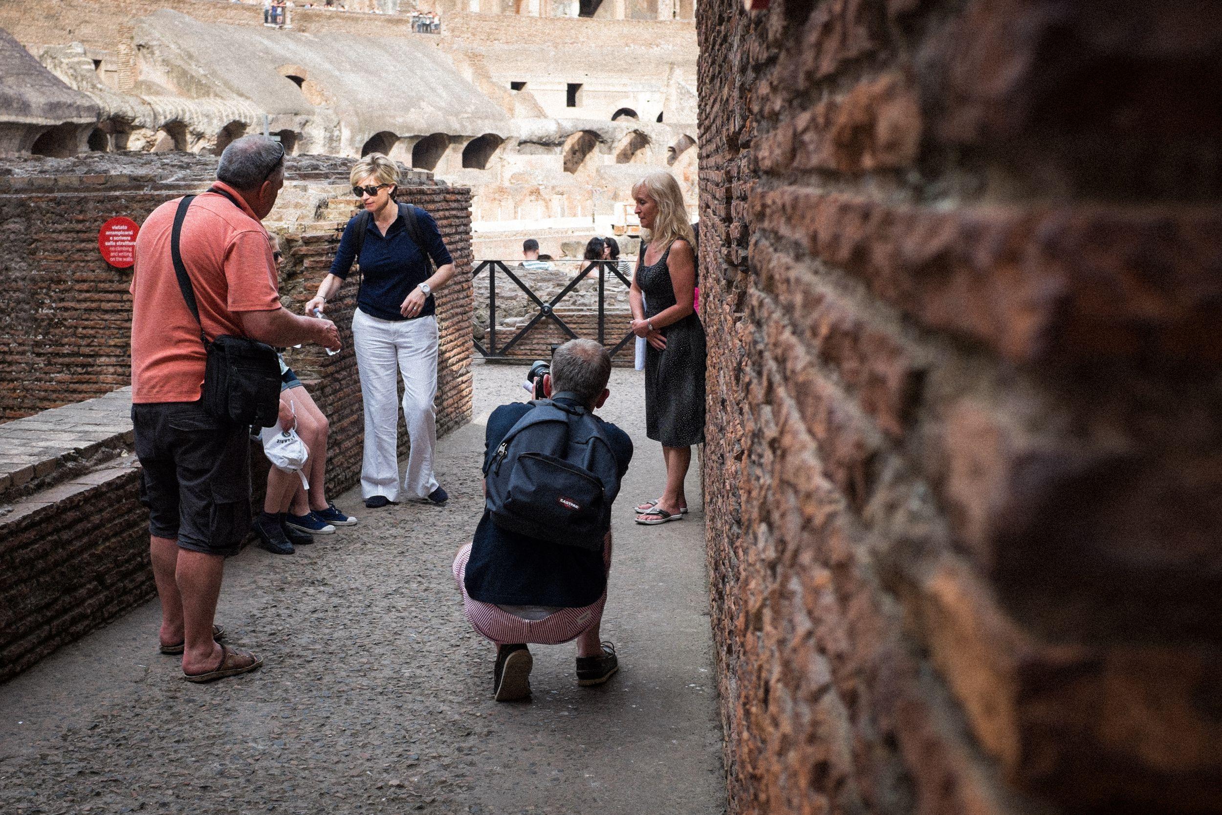 im Kolosseum in Rom