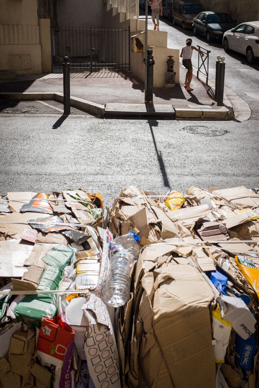 Müllhaufen in Marseille