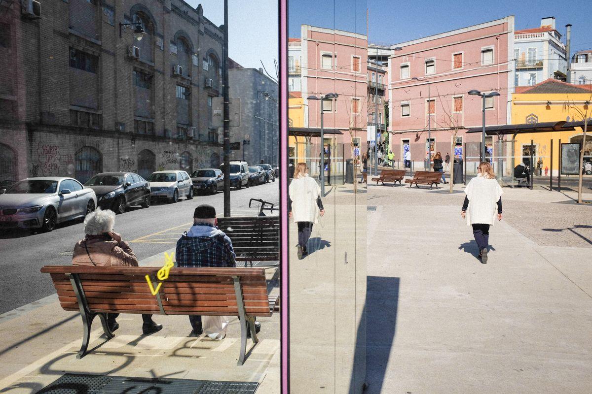 Lissabon Streetphotography Spiegel