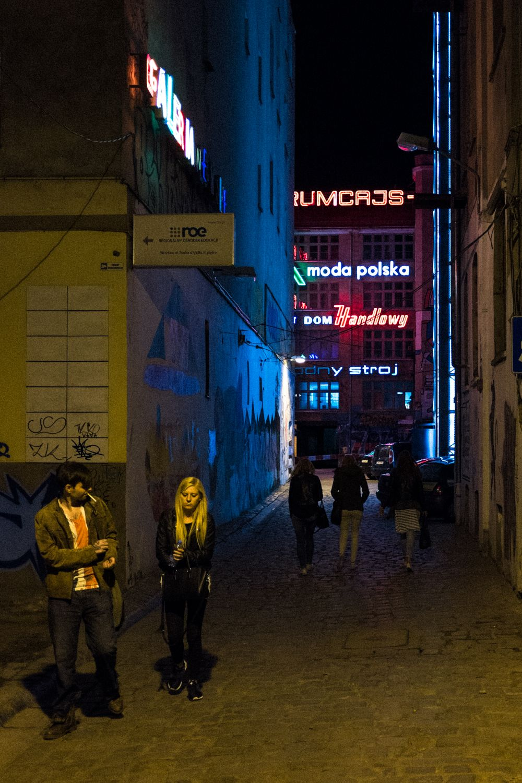 altes Fabrikgelände für Nachtleben außerhalb der Breslauer Altstadt