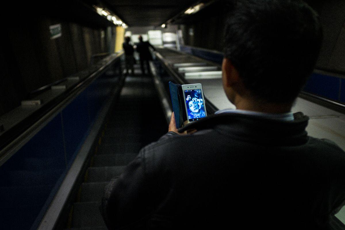 Rolltreppe zur Metropolitana di Roma