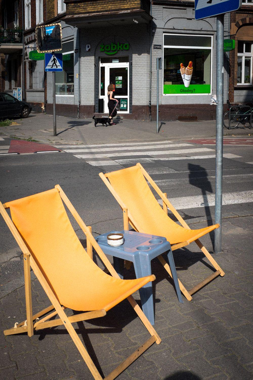 Straßencafé im Stadtviertel Rynek
