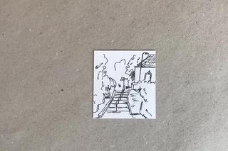 Het dorp tekening pen op papier