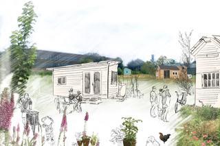 Sfeerschets Pionierskwartier Delft digitale tekening en collage