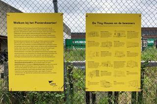 Tekeningen bord  tiny houses Pionierskwartier