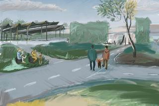Sfeerschets Delft Campus dromen van voorbijgangers