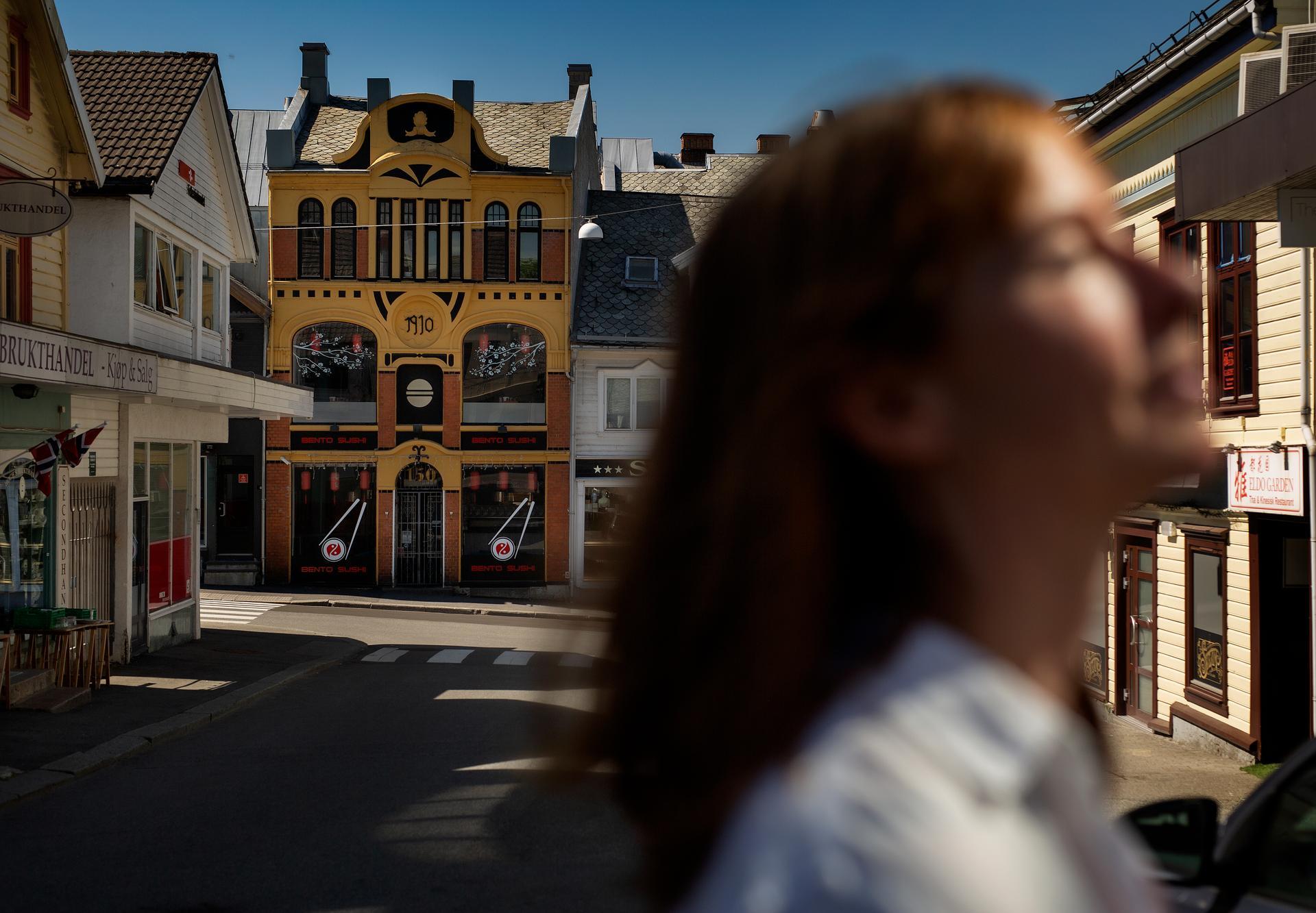 Rederikontoret. I den gule bygningen i Haugesund sentrum var en gang kontoret til rederiet Brummenæs & Torgersen. I dag huser det en asiatisk restaurant.