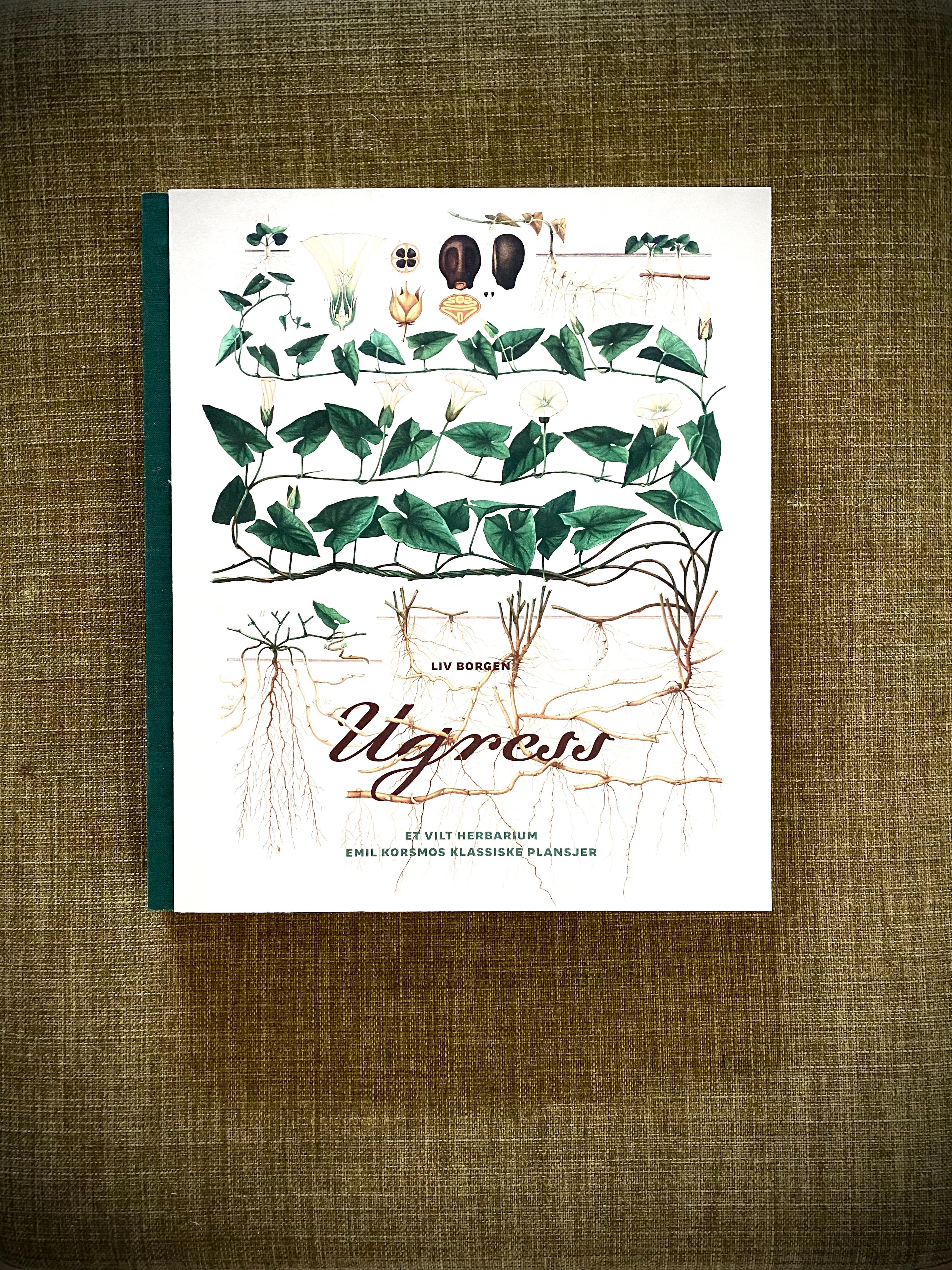 Praktboken Ugress. Et villt herbarium er en samling med Emil Korsmos plansjer fra begynnelsen av 1900-tallet og med tekster av professor emerita i botanikk, Liv Borgen.