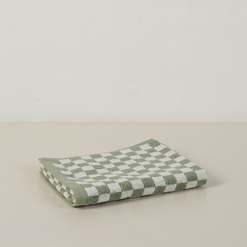 Josephine Organic Cotton Hand Towel - Sage + Chalk