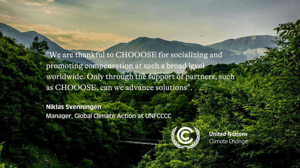 """""""We are thankful to CHOOOSE for socializing and promoting compensation at such a broad level worldwide. Only through the support of partners, such as CHOOOSE, can we advance solutions""""."""