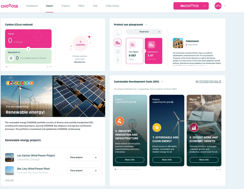 CHOOOSE renewable energy portfolio