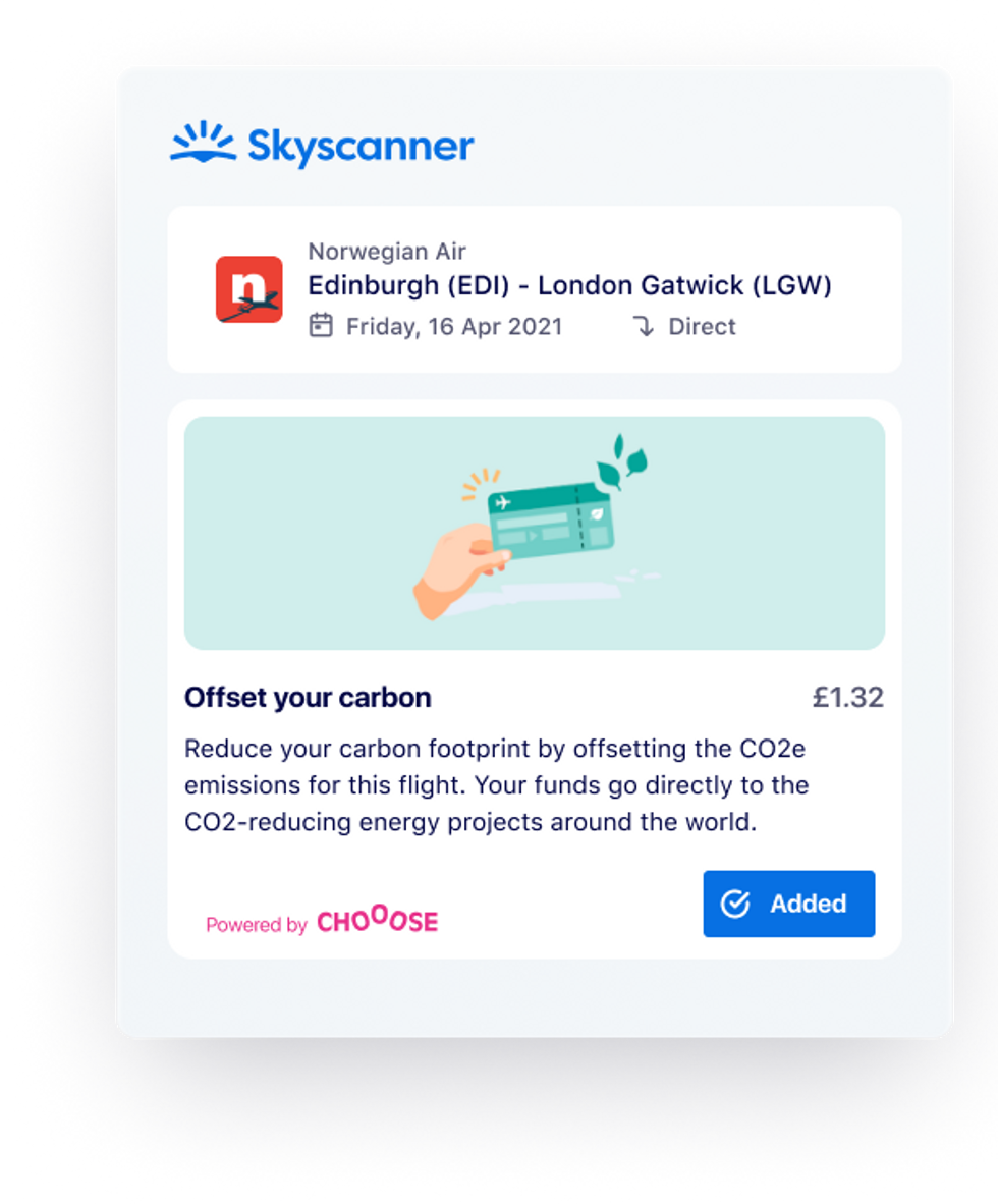 Integrated climate solution by Skyscanner
