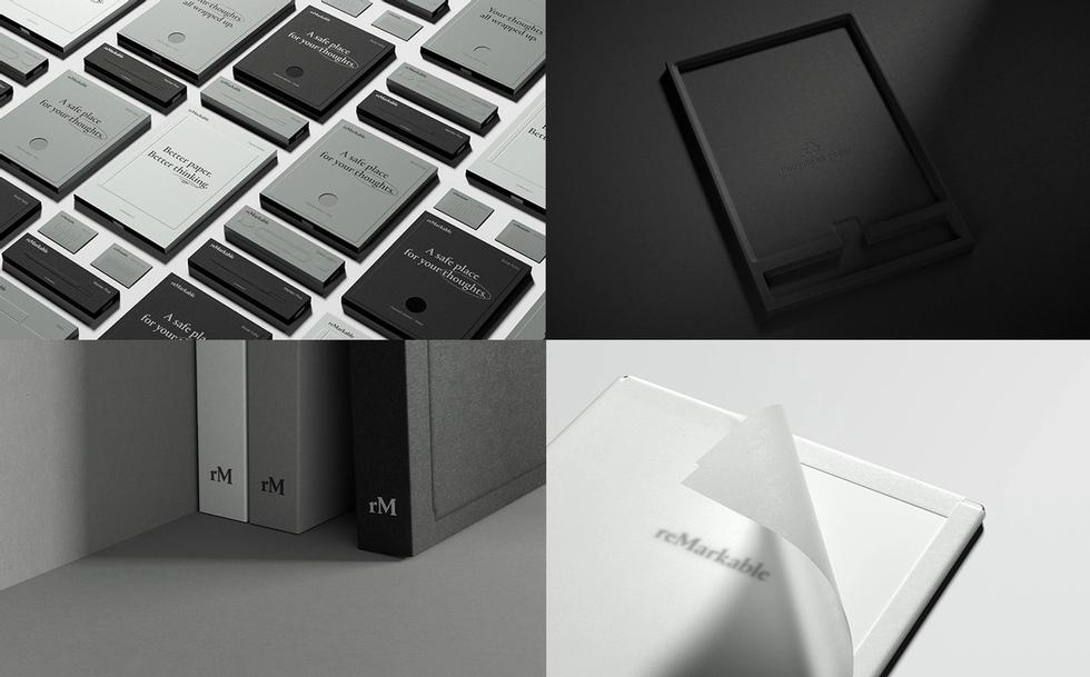 The packaging for reMarkable 2 created by Goods is entirely made from paper, a first for screen products