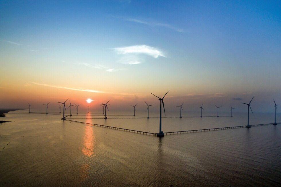 Bac Lieu wind farm in Vietnam