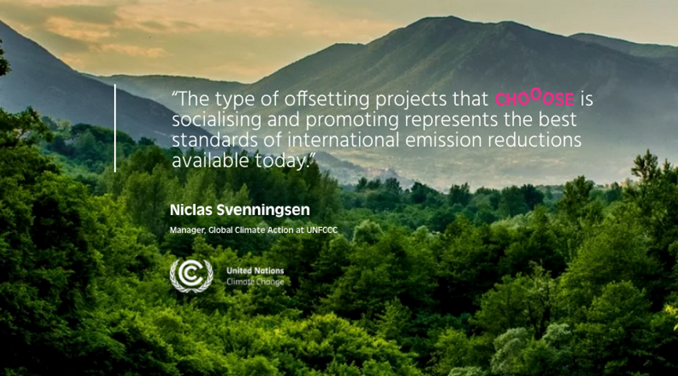 """""""The type of offsetting projects that Lonely Planet and CHOOOSE is socializing and promoting represents the best standards of international emission reductions available today"""", says Niclas Svenningen, Global Climate Action Manager at UNFCCC."""