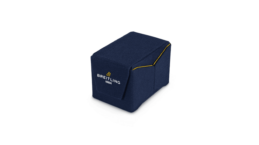 Breitling is introducing a foldable, reusable watch box created entirely from upcycled plastic bottles.
