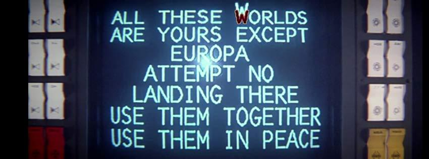 All These WWorlds Are Yours (Except Europa)