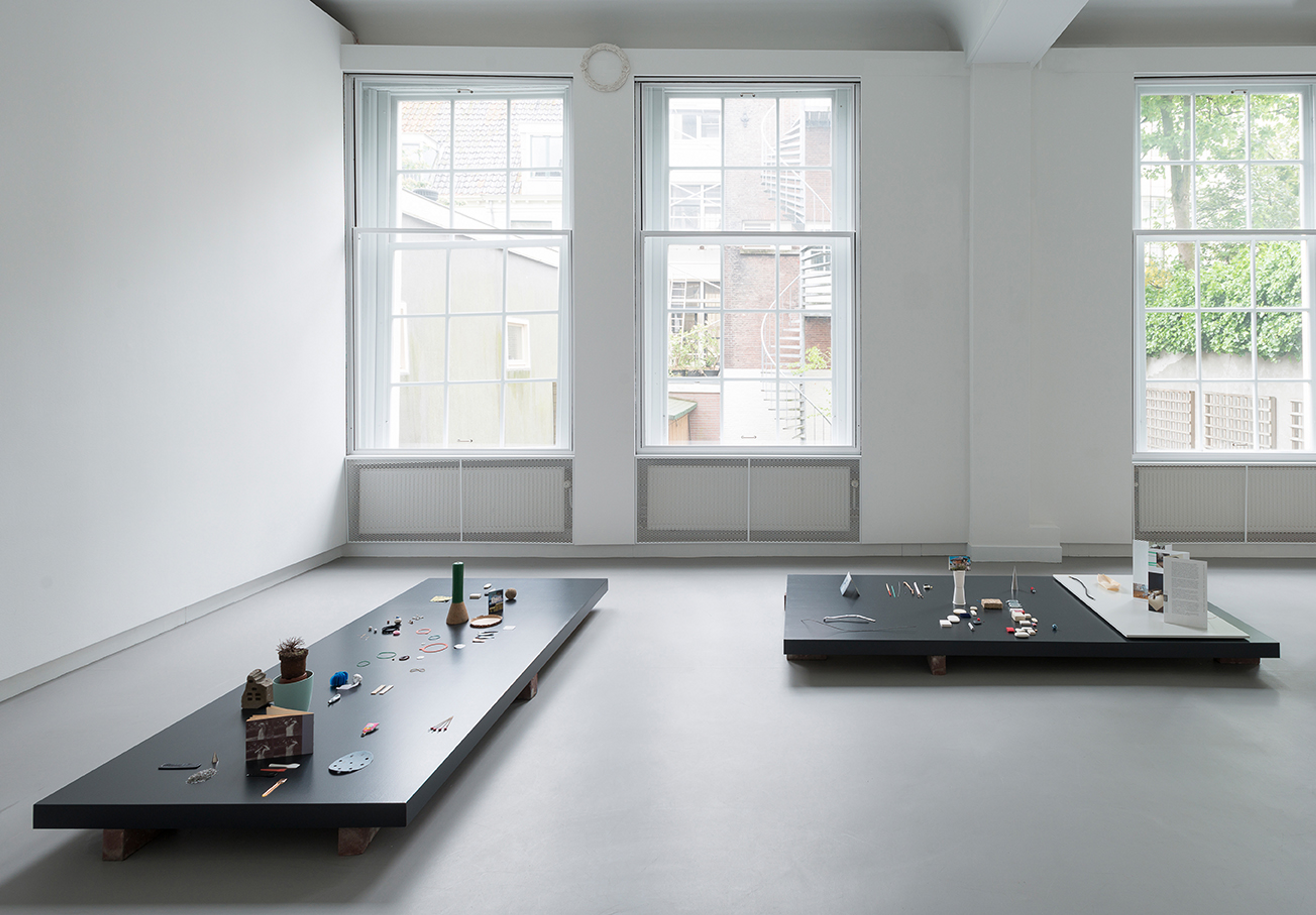 De Appel, Amsterdam, The Netherlands.  Installation view. Conversation about the show by Lian Ladia and Inga Lāce here*