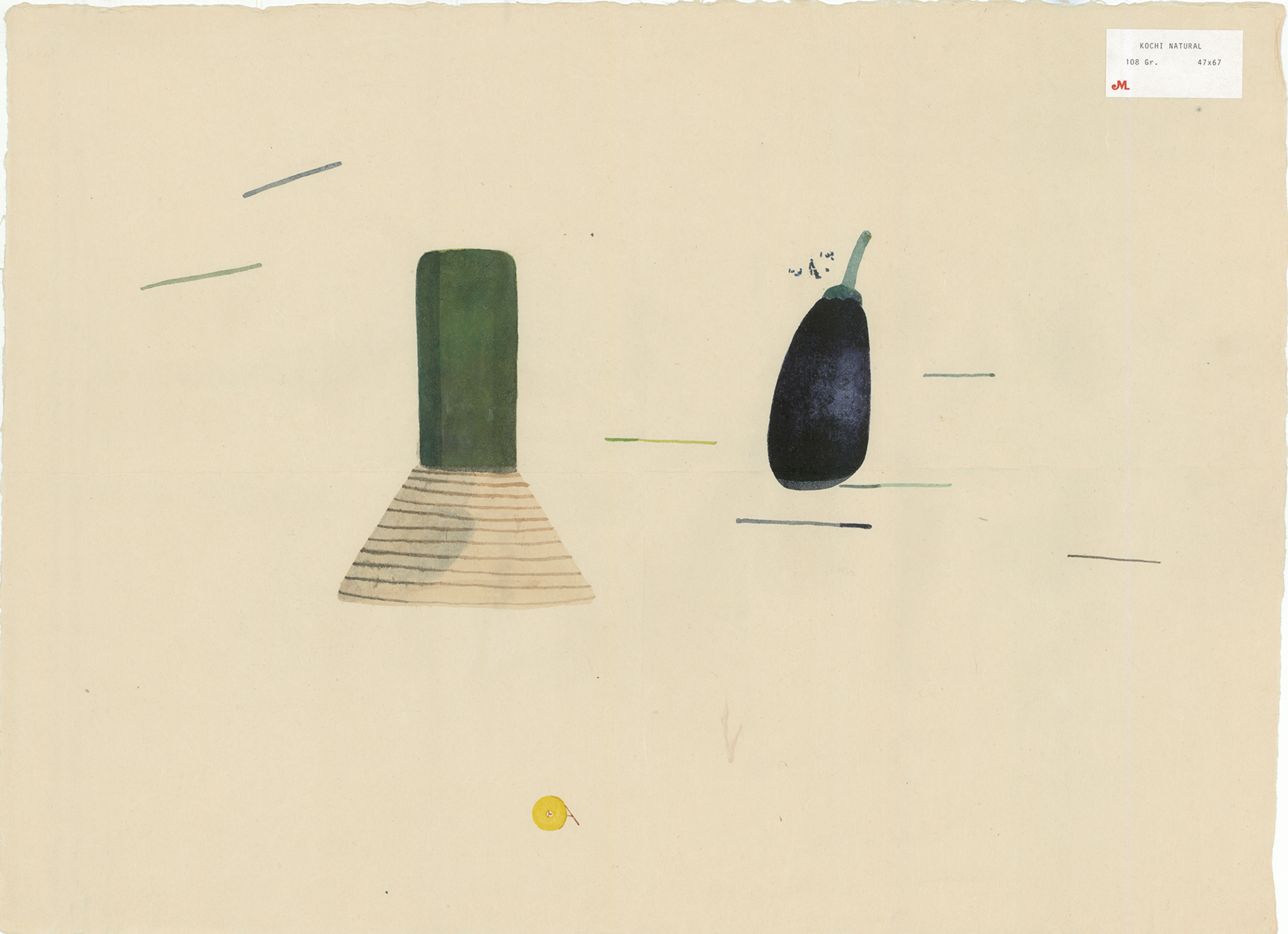 Image of The aubergine and the **