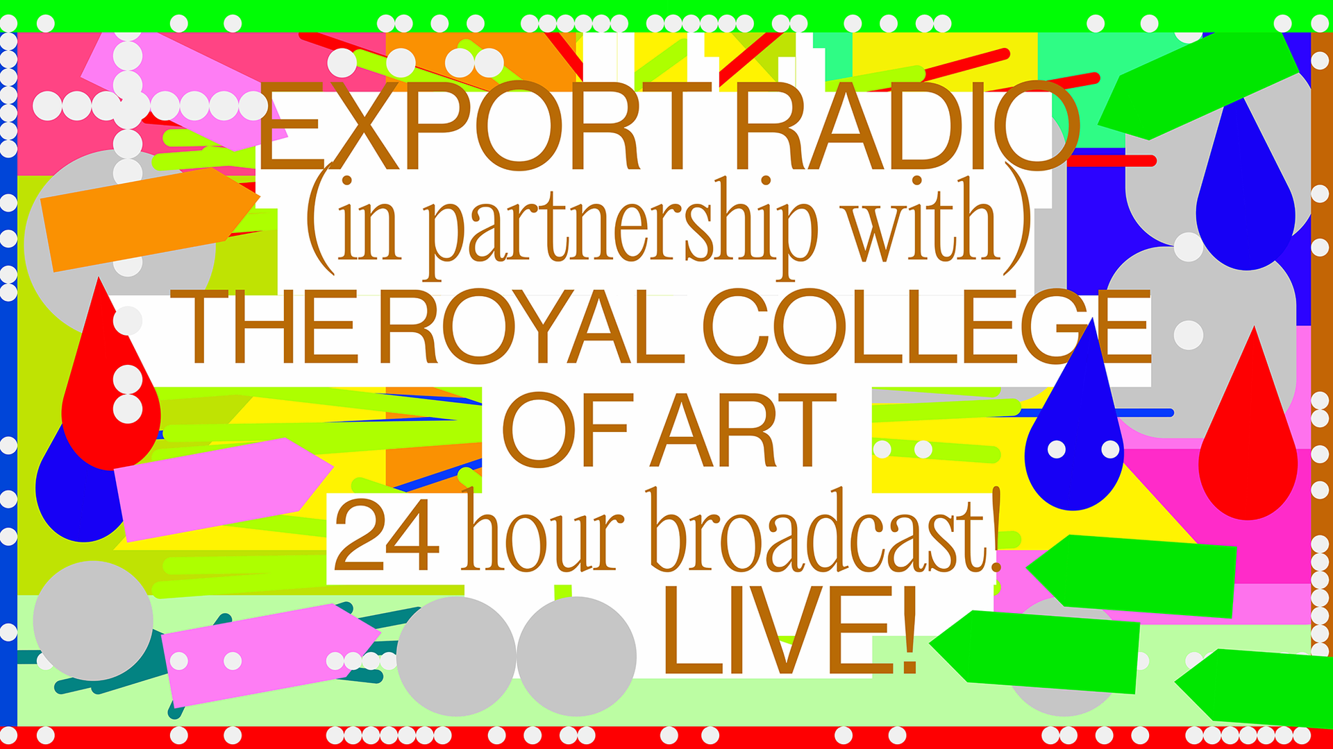 Poster for Export Radio 24 Hour Livestream