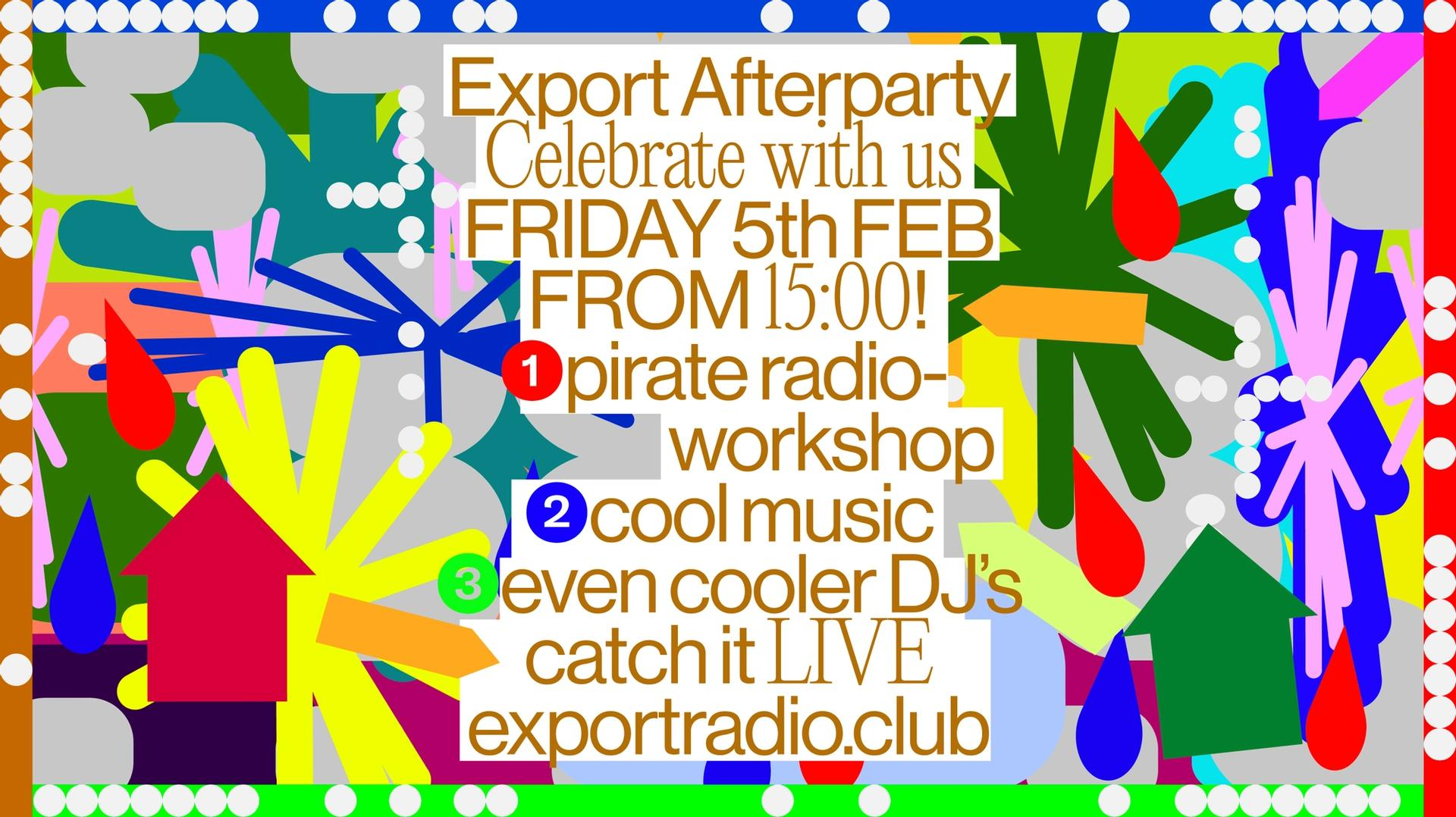 Poster for Export Radio Afterparty