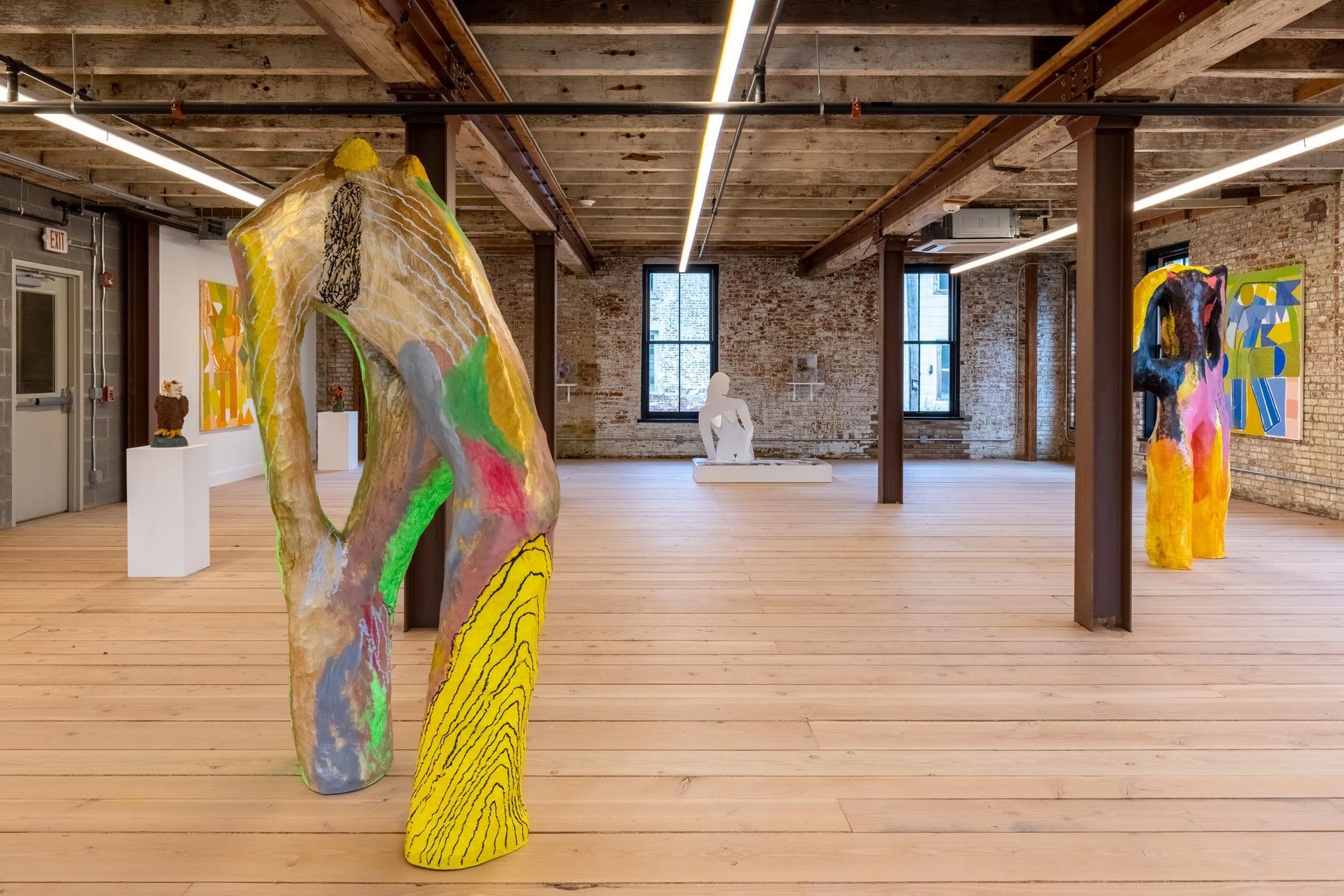 "Installation view ""Rachel Uffner Gallery and Mrs."""