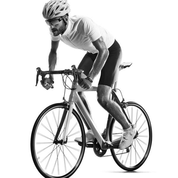 Mann på sykkel