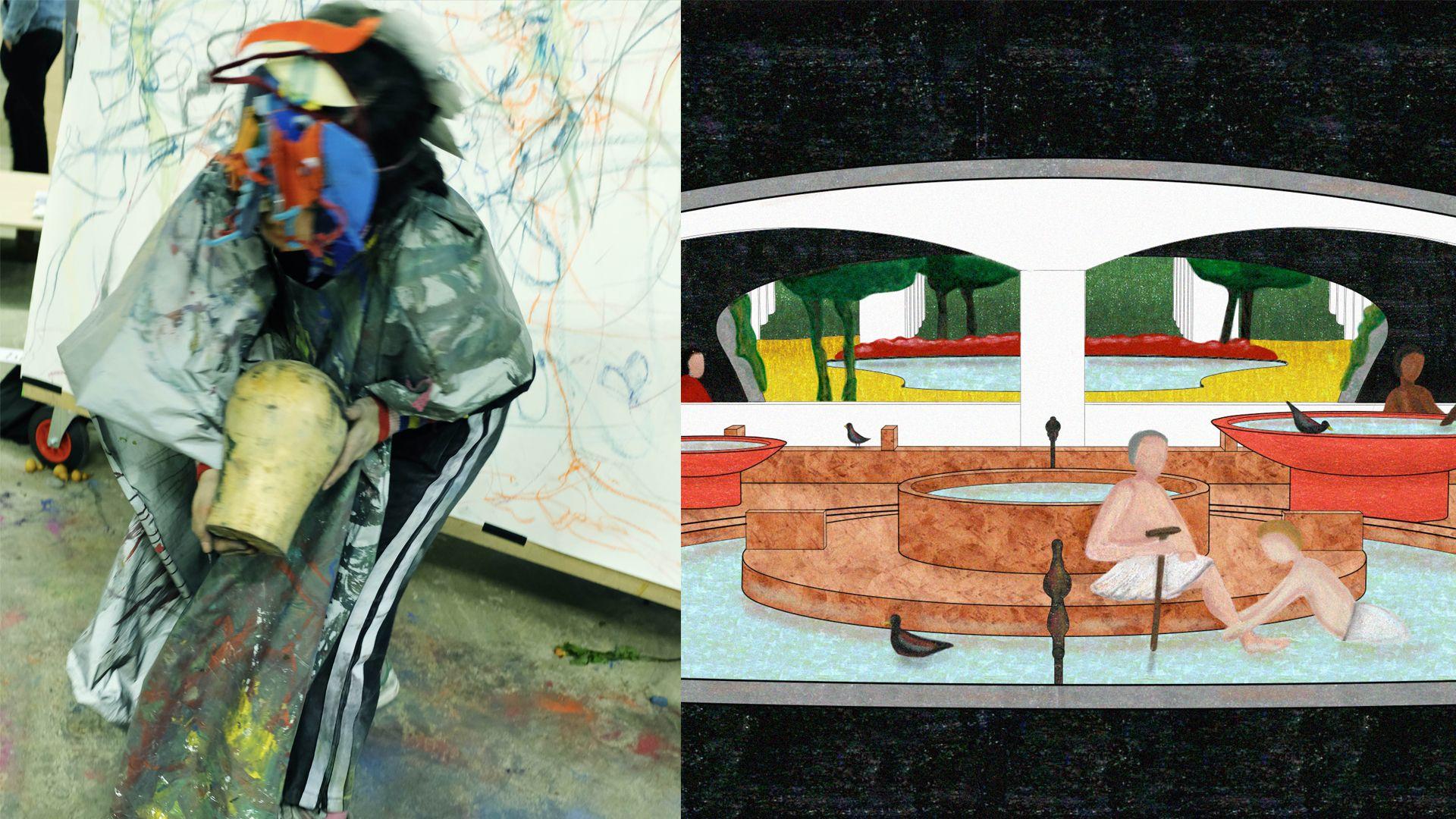 Works by Vicky Yijia Tang, MA Visual Communication (Illustration) and Adalberto Lonardi, MA Interior Architecture