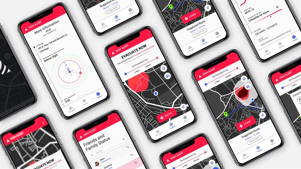 Platform and Interface for Wayfinding in Wildfires