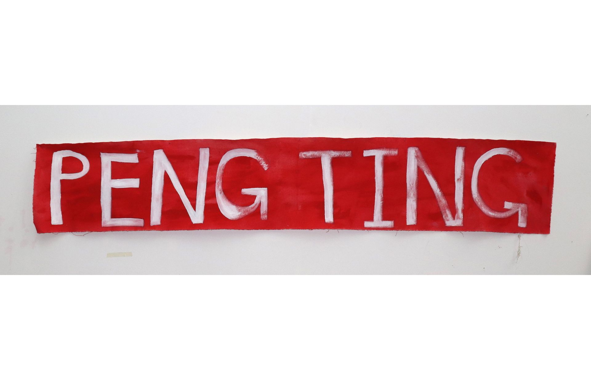 Peng Ting Painting 2019, Sae Yeoun Hwang, Acrylic on canvas 208 x 37 cm