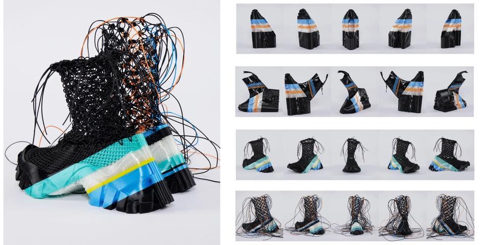 Yunfei Ma's SHIFT +, Macrame Boot