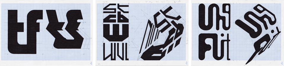 Sean Steed's Typographic Drawings