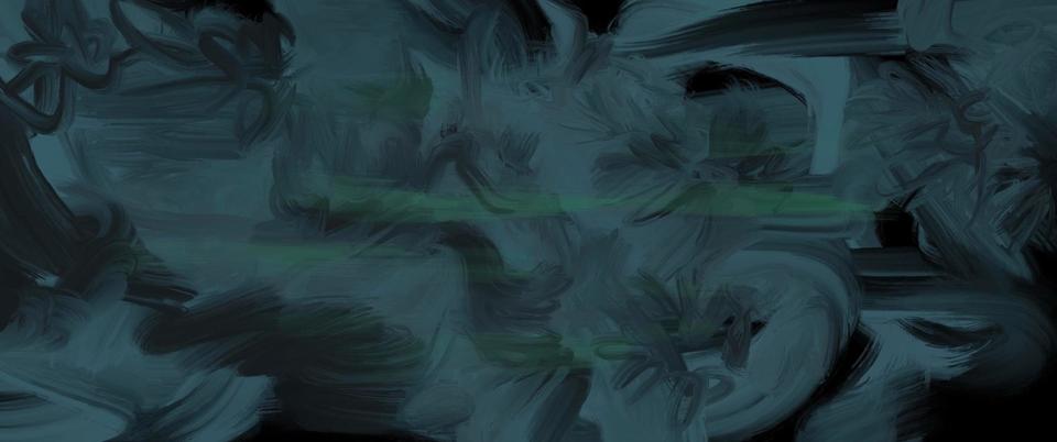 Lexiao Guan's Cyber Landscape Green Blue 赛博绿蓝丛