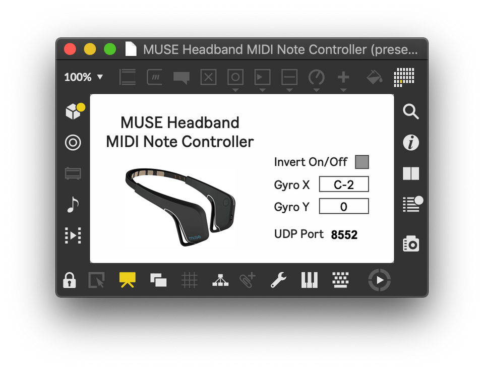 Dimitris Menexopoulos's MUSE Headband MIDI Note Controller