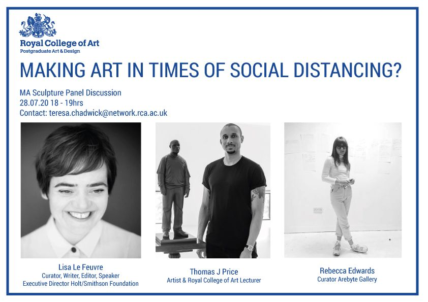 Making art in a time of social distancing? Poster