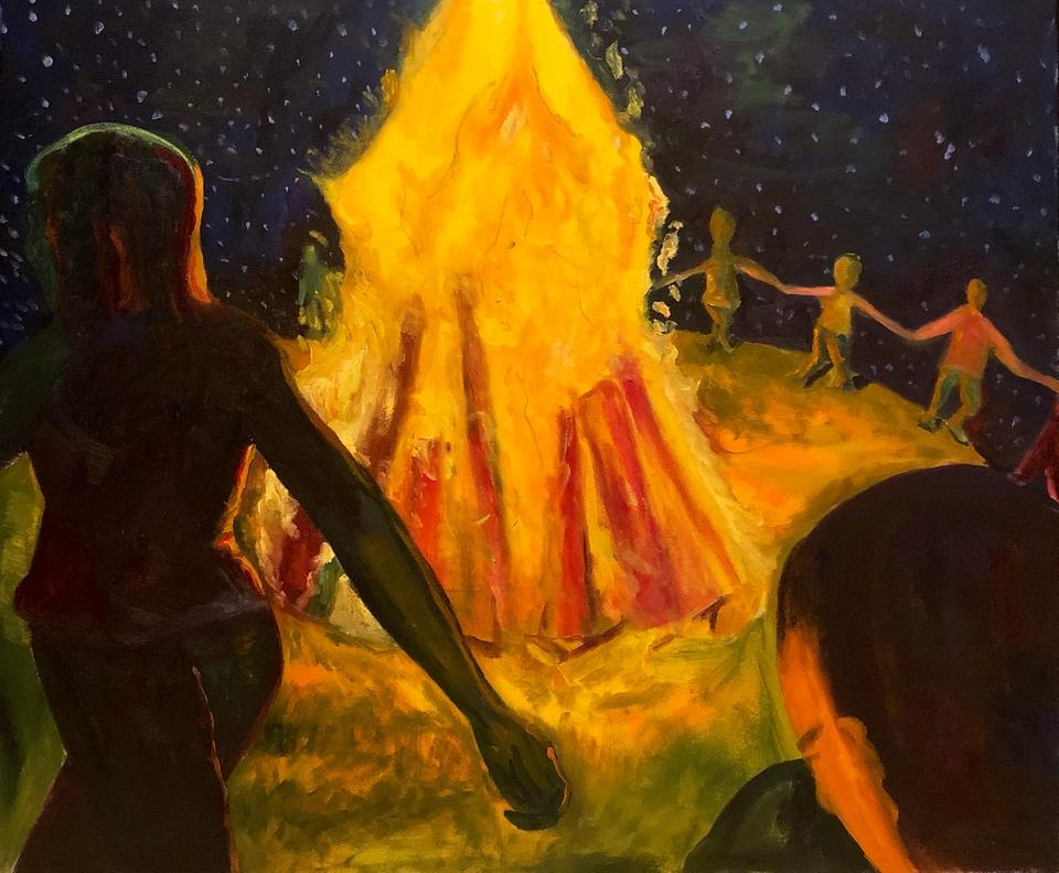 Summer Night — 150x120cm Oil on canvas 2019