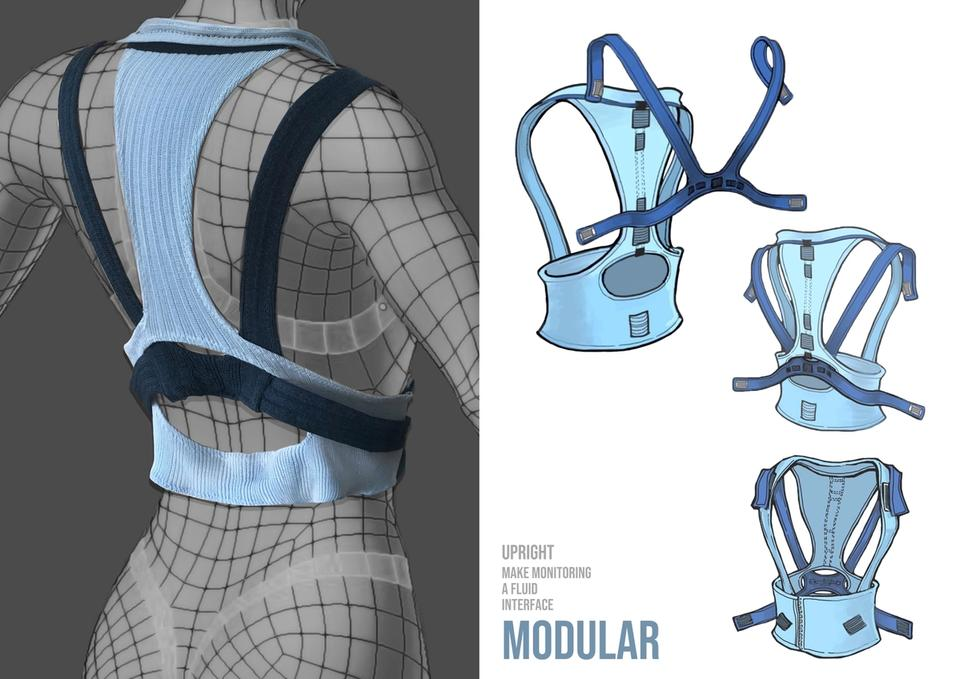 Modular textile structure is designed and applied for Optical Fiber Sensor which all the electronic devices within the wearable can be removed at any time for convenient after care e.g. washing