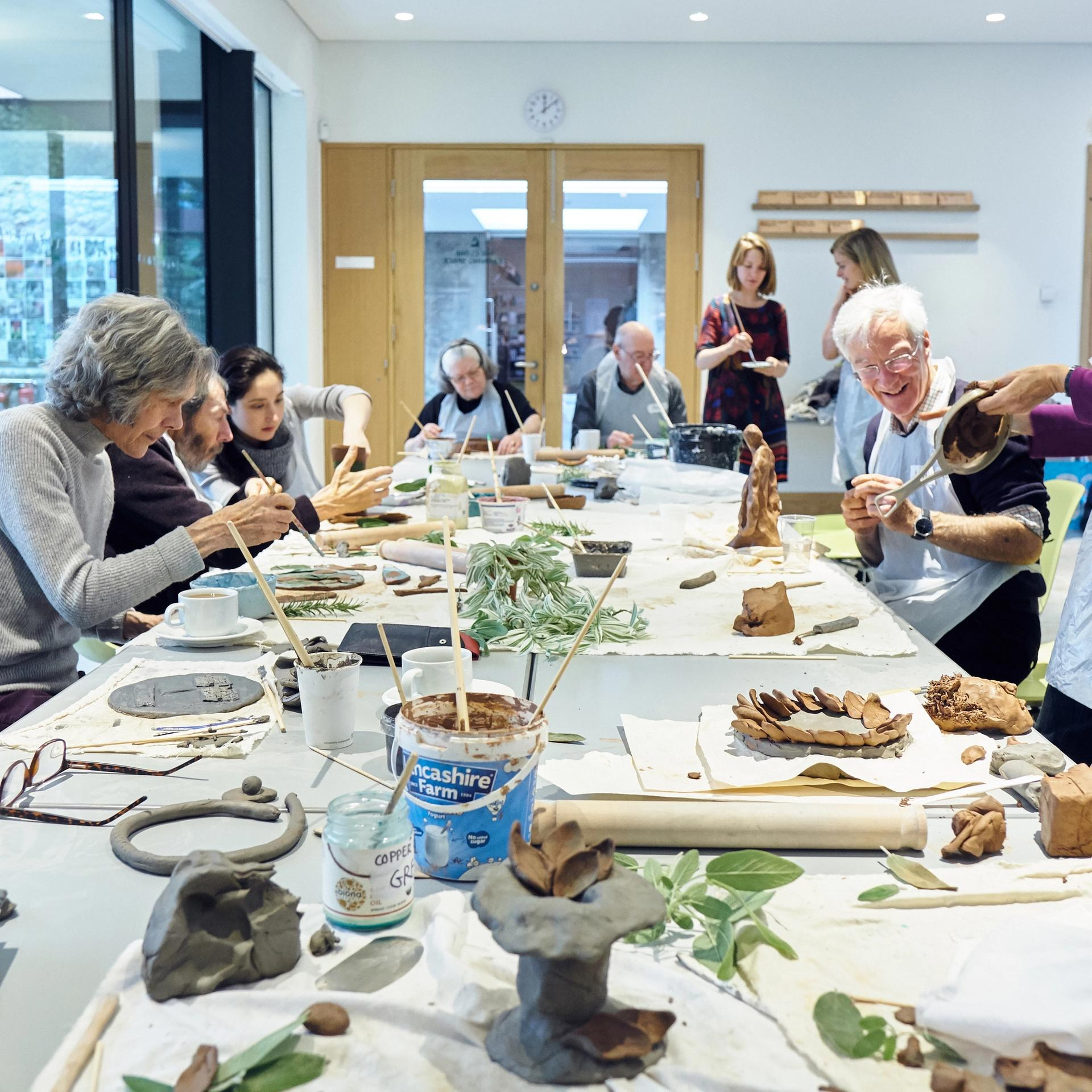 Engaging through materials: Collaboration, Community and Communication with ceramics and glass