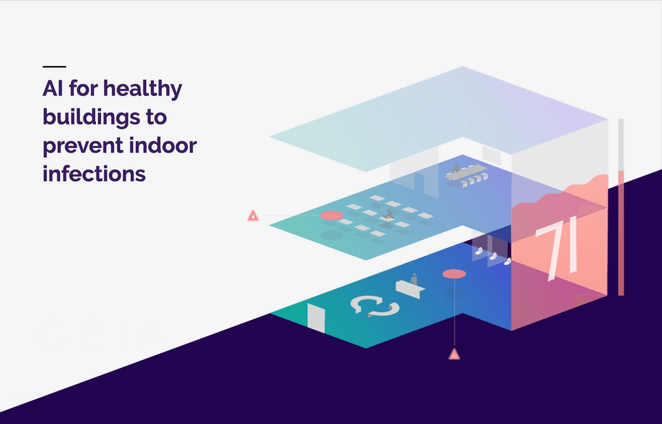 Building health 3D model — Data on the building's state of health is aggregated and visualised as a real-time 3D model