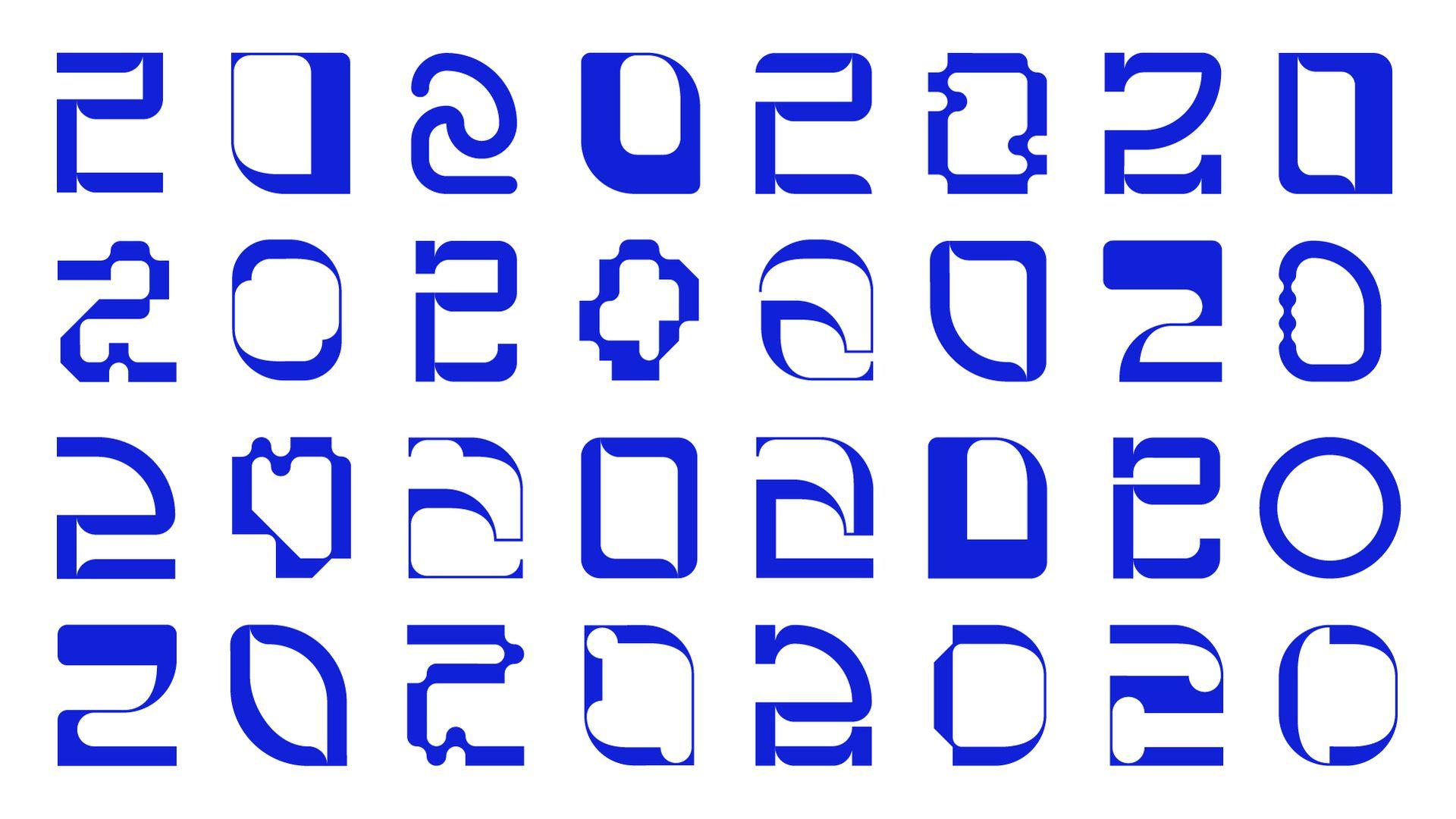 Glyph set of RCA2020 Logos