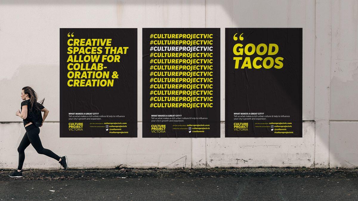 Culture Project Victoria poster series