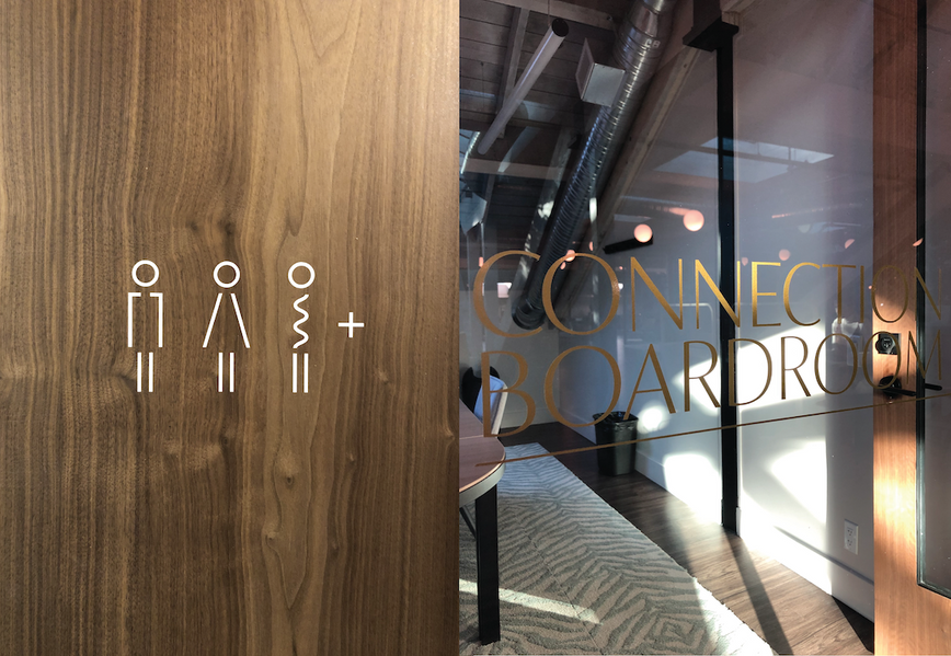 brand identity, coworking, brand expansion, brand re-fresh, typography, custom type, signage, interiors, communications